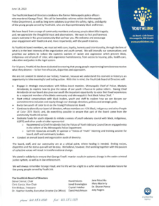 Letter from the YouthLink Board of Directors (PDF)